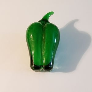 Glass Bell Pepper Green